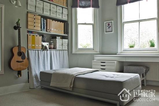 灰色系迷人混搭家欣赏卧室陈设