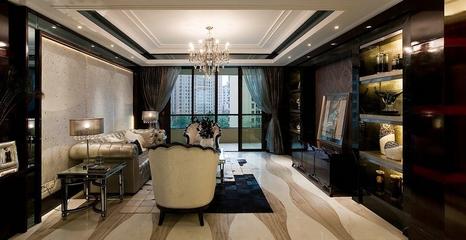 欧式高贵三居室欣赏客厅背景墙