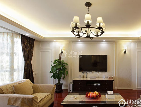 弥补客厅电视机背后的空白 选择最适合自己的简约电视墙材料