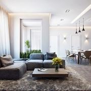 充满质感的简约公寓欣赏客厅
