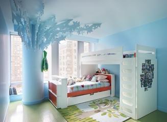 白色北欧风效果图欣赏卧室陈设
