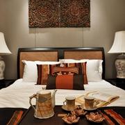 东南亚泰式风格卧室背景