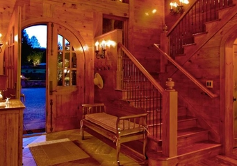 美式风格别墅效果图玄关