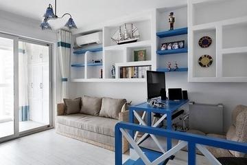 蓝白地中海两居室欣赏客厅设计