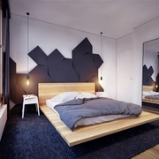 现代卧室背景墙效果图 个性魅力