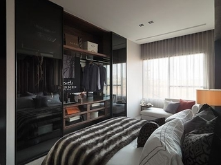 76平现代风两居室欣赏卧室衣柜