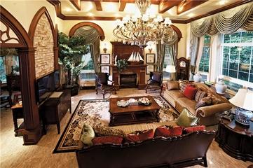 240平美式奢华别墅欣赏客厅设计