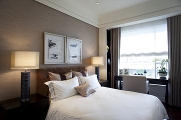 新古典三居室样板房案例欣赏卧室背景墙