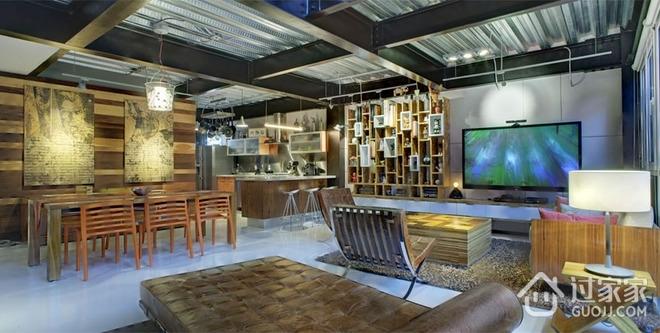 现代彩色丛林住宅欣赏餐厅