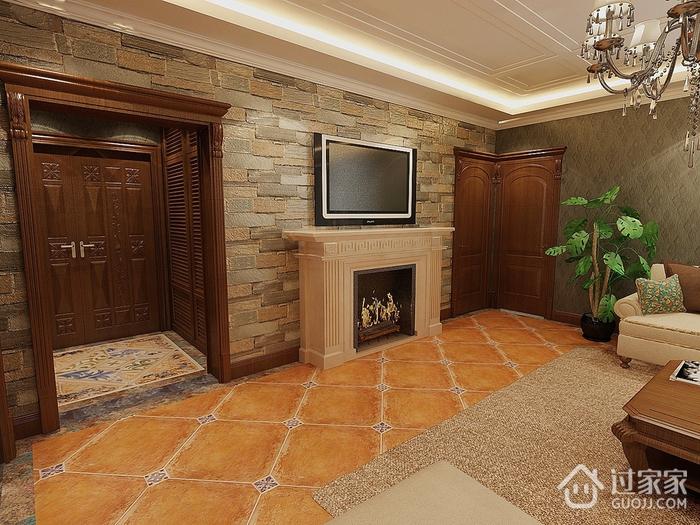 新中式客厅背景墙装修效果图