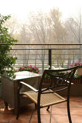 中式风格阳台效果图