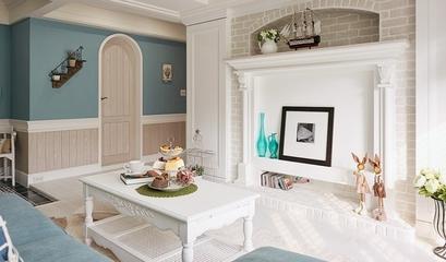 三居室白色客厅背景墙