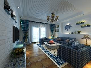 蓝色地中海家居欣赏客厅