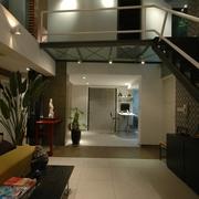 现代风格复式客厅全景设计