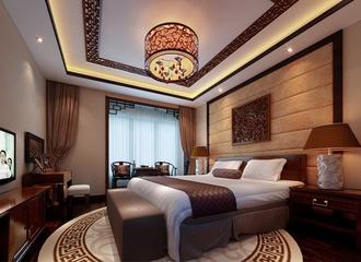 89平新中式住宅欣赏卧室吊顶