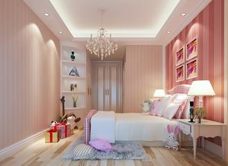 中式风格大四居欣赏儿童房