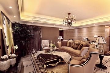 低调新古典样板房欣赏卧室吊顶