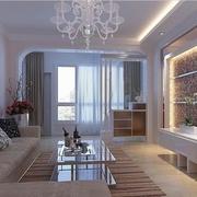 85平现代住宅欣赏客厅设计