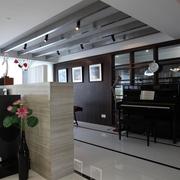 现代简约风住宅装饰钢琴去摆设