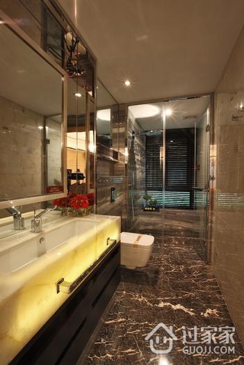 现代简约卫生间浴室镜效果图