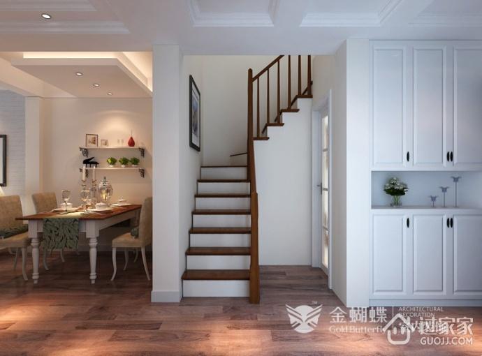 混搭风格效果图复式欣赏楼梯