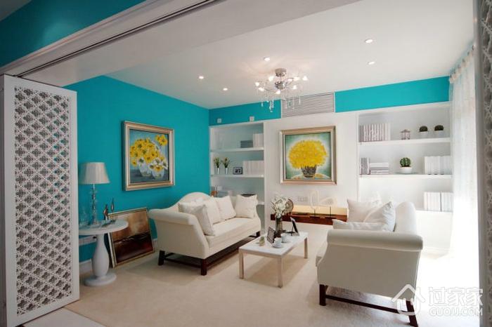 98平蓝色地中海住宅欣赏