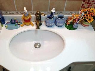 粉色田园公主屋欣赏洗手间