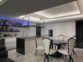 新古典黑白色调住宅餐厅