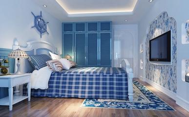 蓝色地中海家居欣赏卧室效果