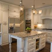 简欧住宅装饰效果图厨房全景设计