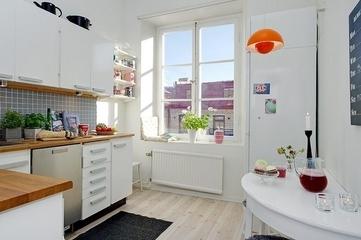 白色北欧两居室住宅欣赏厨房飘窗