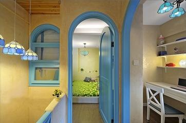 77平蓝色地中海住宅欣赏卧室局部