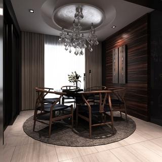 雅致新中式住宅欣赏餐厅