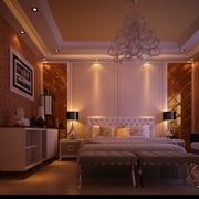 简欧效果图设计套图卧室背景墙设计