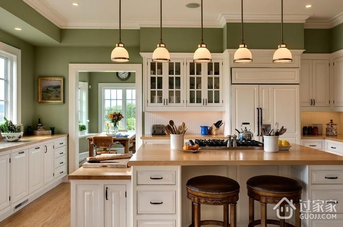 欧式家装效果图厨房吧台