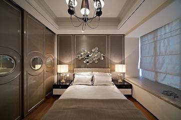 90平典雅美式两居欣赏卧室吊顶
