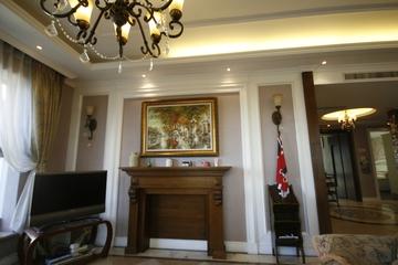 混搭温馨两居室欣赏客厅背景墙