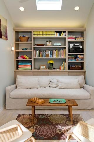 现代风格效果图客厅壁橱设计