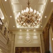 复式欧式风住宅设计水晶灯