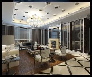 法式风格设计样板房赏析客厅效果