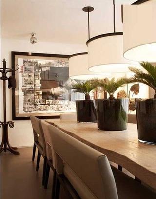 白色混搭雅居别墅欣赏餐厅效果