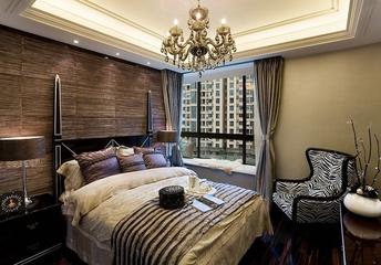 欧式高贵三居室欣赏卧室背景墙