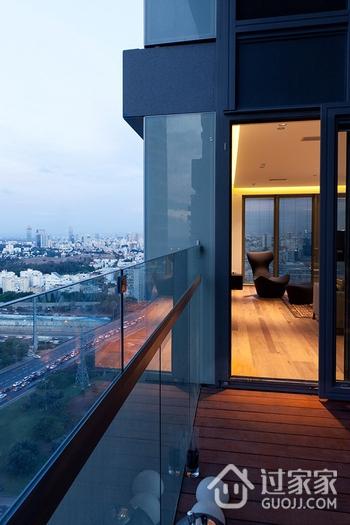 白色现代风格效果图欣赏阳台