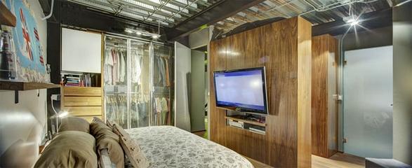 现代彩色丛林住宅欣赏卧室