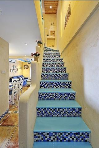 125平地中海温馨住宅欣赏楼梯间