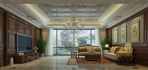 简欧时尚住宅欣赏客厅背景墙