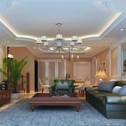 118平简欧住宅欣赏客厅设计