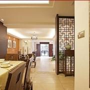 85平中式风格三居欣赏餐厅