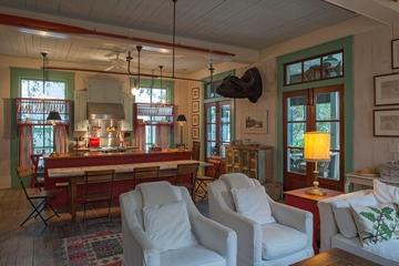 美式田园风格效果图客厅厨房