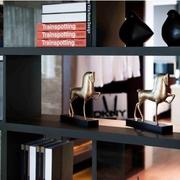 简约暗黑设计效果图欣赏书架